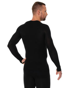 Men's Top 3D Bike PRO Long Sleeve Black Back
