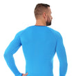 Load image into Gallery viewer, Men's Top 3D Bike PRO Long Sleeve Light Blue Back