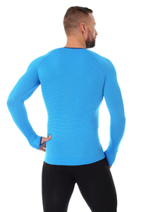 Men's Top 3D Bike PRO Long Sleeve Light Blue Back