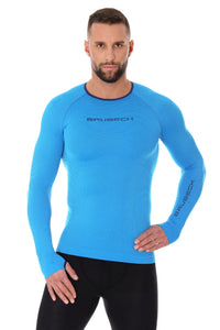 Men's Top 3D Bike PRO Long Sleeve Light Blue Front