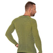 Load image into Gallery viewer, Men's Top 3D Bike PRO Long Sleeve Yellow Back