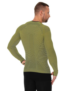 Men's Top 3D Bike PRO Long Sleeve Yellow Back