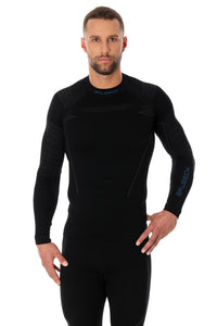 Men's Top THERMO Long Sleeve Black Front