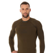 Load image into Gallery viewer, Men's Top THERMO Long Sleeve Khaki Front