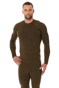 Men's Top THERMO Long Sleeve Khaki Front