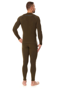 Men's Top THERMO Long Sleeve Khaki Back