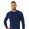 Load image into Gallery viewer, Men's Top THERMO Long Sleeve Navy Blue Front
