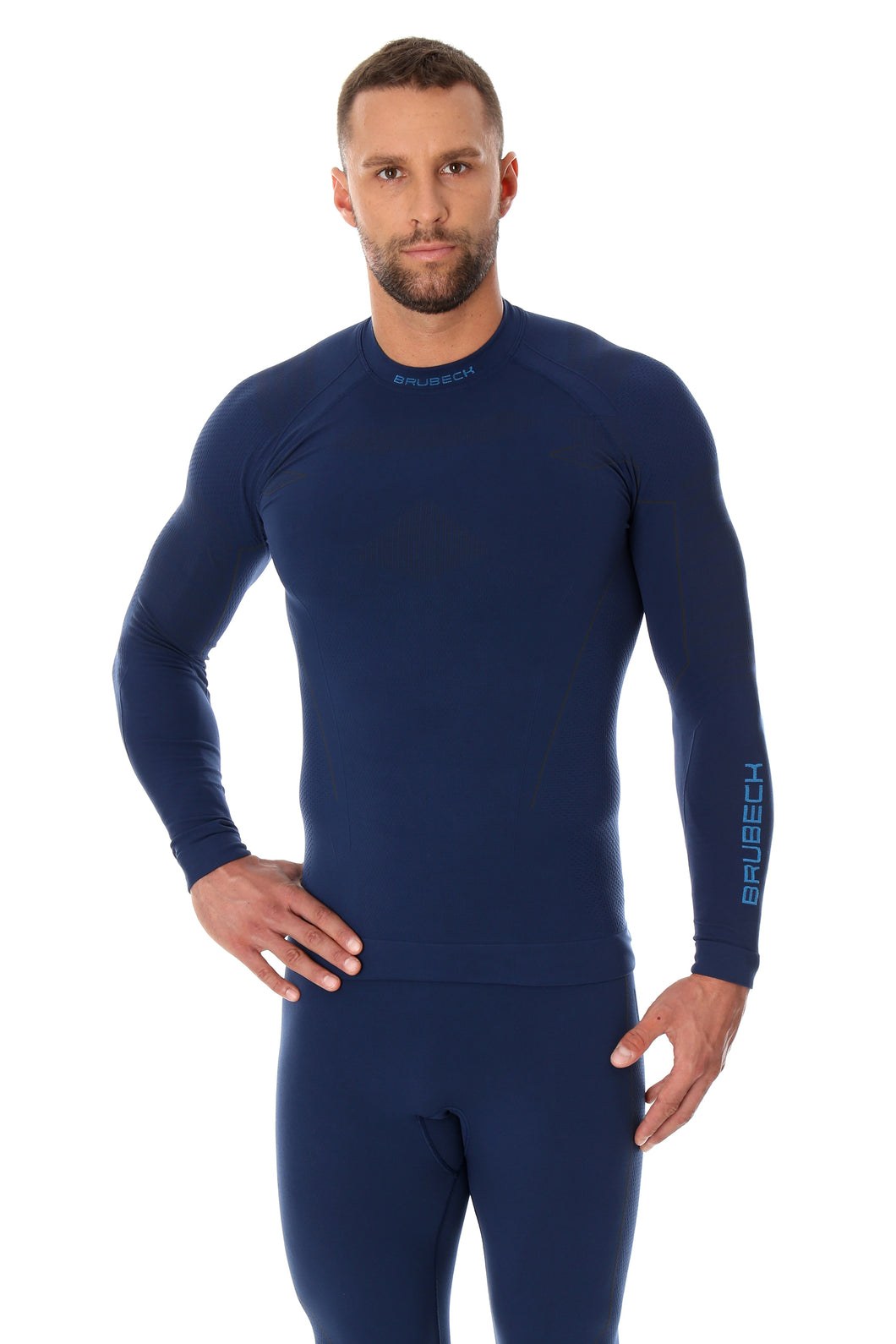 Men's Top THERMO Long Sleeve Navy Blue Front
