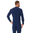 Load image into Gallery viewer, Men's Top THERMO Long Sleeve Navy Blue Back