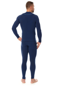 Men's Top THERMO Long Sleeve Navy Blue Back