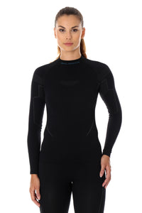 Women's Top THERMO Long Sleeve Black Front