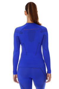 Women's Top THERMO Long Sleeve Cobalt Blue Back