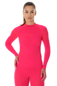 Women's Top THERMO Long Sleeve Raspberry Front