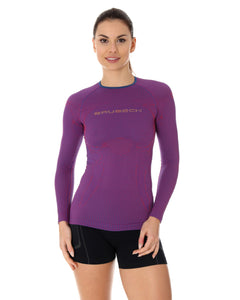 Women's Top 3D Run PRO Long Sleeve Purple Front