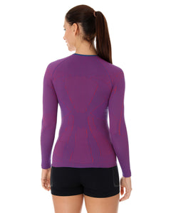 Women's Top 3D Run PRO Long Sleeve Purple Back