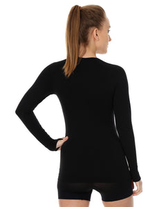 Women's Top 3D Bike PRO Long Sleeve Black Back