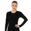 Load image into Gallery viewer, Women's Top 3D Bike PRO Long Sleeve Black Front