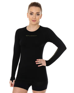 Women's Top 3D Bike PRO Long Sleeve Black Front