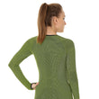Load image into Gallery viewer, Women's Top 3D Bike PRO Long Sleeve Lime Back