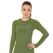 Load image into Gallery viewer, Women's Top 3D Bike PRO Long Sleeve Lime Front