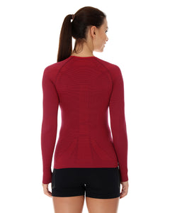 Women's Top 3D Bike PRO Long Sleeve Burgundy Back