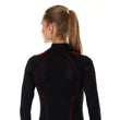 Load image into Gallery viewer, Women's Top COOLER Long Sleeve Black/Amaranth Back