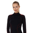 Load image into Gallery viewer, Women's Top COOLER Long Sleeve Black/Amaranth Front