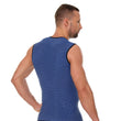 Load image into Gallery viewer, Men's Top 3D Run PRO Tank Top Dark Blue Back