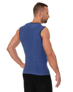 Men's Top 3D Run PRO Tank Top Dark Blue Back