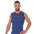 Load image into Gallery viewer, Men's Top 3D Run PRO Tank Top Dark Blue Front