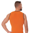 Load image into Gallery viewer, Men's Top 3D Run PRO Tank Top Orange Back