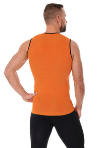 Men's Top 3D Run PRO Tank Top Orange Back