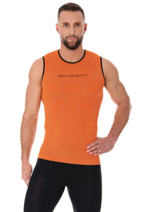 Men's Top 3D Run PRO Tank Top Orange Front