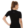 Load image into Gallery viewer, Women Unisex 3D PRO Base Layer T-Shirt Black Back