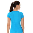 Load image into Gallery viewer, Women's Top ACTIVE WOOL Short Sleeve Light Blue Back