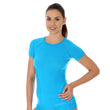 Load image into Gallery viewer, Women's Top ACTIVE WOOL Short Sleeve Light Blue Front