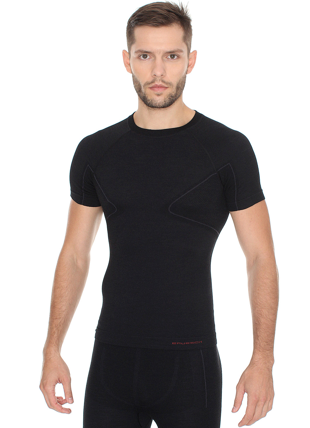 Men's Top ACTIVE WOOL Short Sleeve Black
