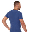 Load image into Gallery viewer, Men's Top 3D Run PRO Short Sleeve Dark Blue Back