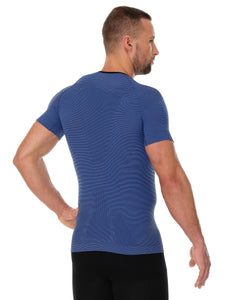Men's Top 3D Run PRO Short Sleeve Dark Blue Back