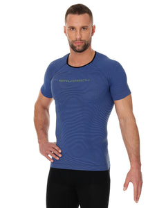 Men's Top 3D Run PRO Short Sleeve Dark Blue Front