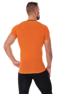 Men's Top 3D Run PRO Short Sleeve Orange Back