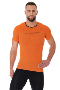 Men's Top 3D Run PRO Short Sleeve Orange Front