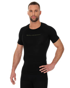 Men's Top 3D Bike Pro Short Sleeve Black Front