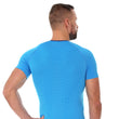 Load image into Gallery viewer, Men's Top 3D Bike Pro Short Sleeve Light Blue Back