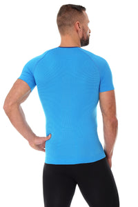 Men's Top 3D Bike Pro Short Sleeve Light Blue Back