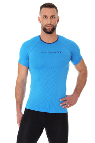Men's Top 3D Bike Pro Short Sleeve Light Blue Front