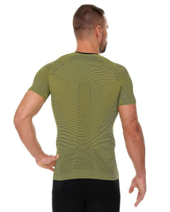 Men's Top 3D Bike Pro Short Sleeve Yellow Back