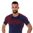 Load image into Gallery viewer, Men's Top DRY short sleeve T-shirt Navy blue/Red Front