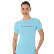 Load image into Gallery viewer, Women's Top 3D Run PRO Short Sleeve Light Blue