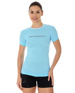 Women's Top 3D Run PRO Short Sleeve Light Blue